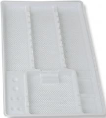 Plateaux jetables Lisses avec compartiments 51-507