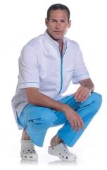 Tunique Arthur Blanc / Bleu 53-956