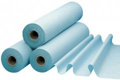 Drap d'examen bleu plastifié  53-860